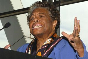 Black Racist 'Poet' Maya Angelou Falsely Plays Race Card on Republicans
