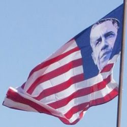 Obama's Out-of-Control Ego – All 50 Stars on US Flag Replaced by Obama's Picture