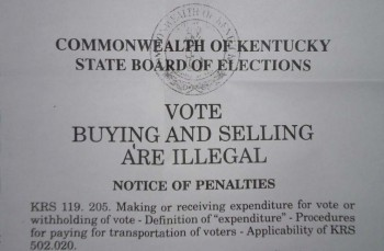 Rampant Kentucky Vote Buying Fraud Fueled By Organized Crime Drug Money