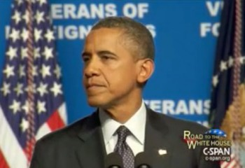 Obama Can&#039;t Find the Truth in Teleprompter When Speaking With Veterans