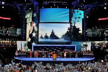 Anti-Military Democrats Mistake Russian Warships for American Ships on National Convention Big Screens
