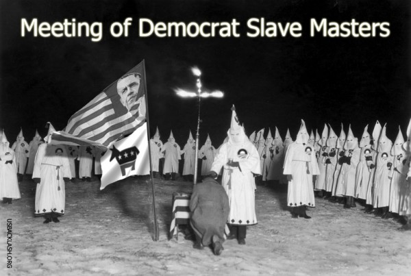 Meeting of New Democrat KKK Slave Masters