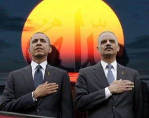 Criminals-Obama-Holder-Pledge-Allegiance-to-Islam