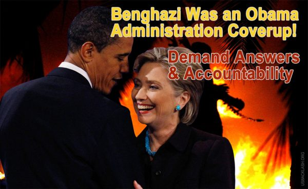 Benghazi was an Obama administration coverup, with Hillary Clintom most to blame. They did nothing and watched our people die. Demand answers and accountability!