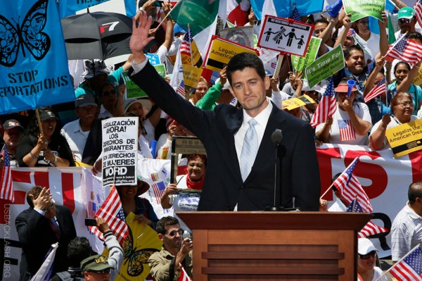 Paul Ryan Drops off Deep End Supporting Immigration Sham Bill - Loses Tea Party Support - Screws Chances For Higher Office