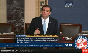 Nutless Republicans Cower To Obama - Fighting Against Cruz-Lee-Paul Effort to Defund Obamacare