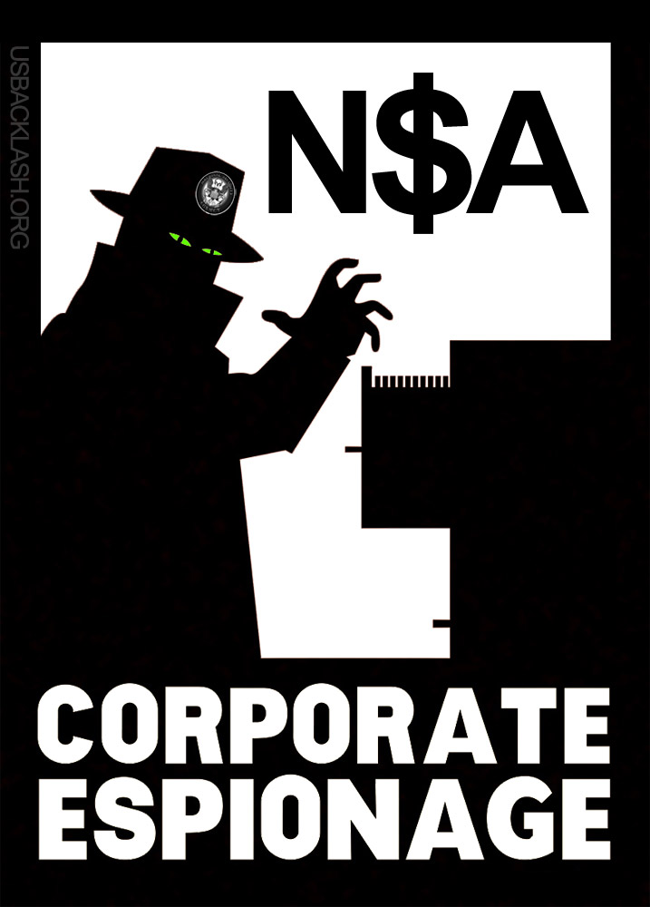 Obama's Corrupt & Overreaching NSA Engages in Illegal Worldwide Industrial Espionage