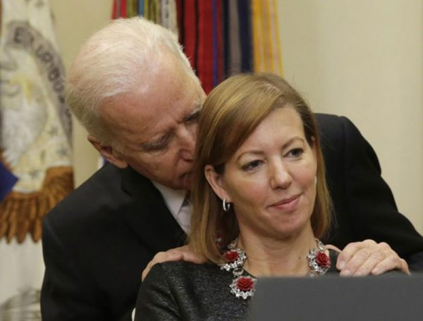 Creepy Old Man Biden Gets Handsy Again With Wife of Defense Sec. Ash Carter