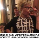 Disgusting 2X Baby Murdering Whore Martha Plimpton Promotes Baby Murder With Abortion Dress