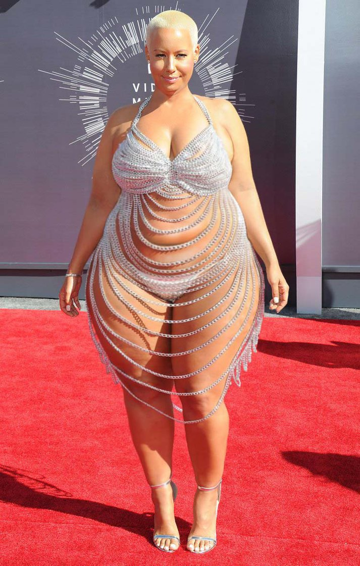 disgusting fat-ass hooker-looking amber rose promises to move out of