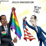 Anti-American-Obama-Kenya-Tour-Flag-Burning-Cartoon