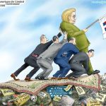 Media-Props-Up-Crooked-Lyin-Criminal-Hillary-Clinton-Cartoon