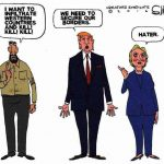 Trump-Secure-Borders-From-Radical-Islam-Hillary-Clinton-Cartoon