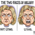 Two-Faced-Lyin-Crooked-Criminal-Hillary-Clinton-Cartoon