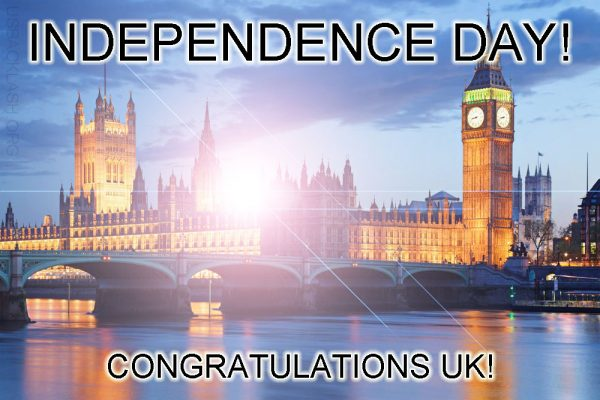 Independence Day In UK! Congratulations!!