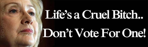 Hillary-Clinton-Life-Is-A-Cruel-Bitch-Dont-Vote-For-One