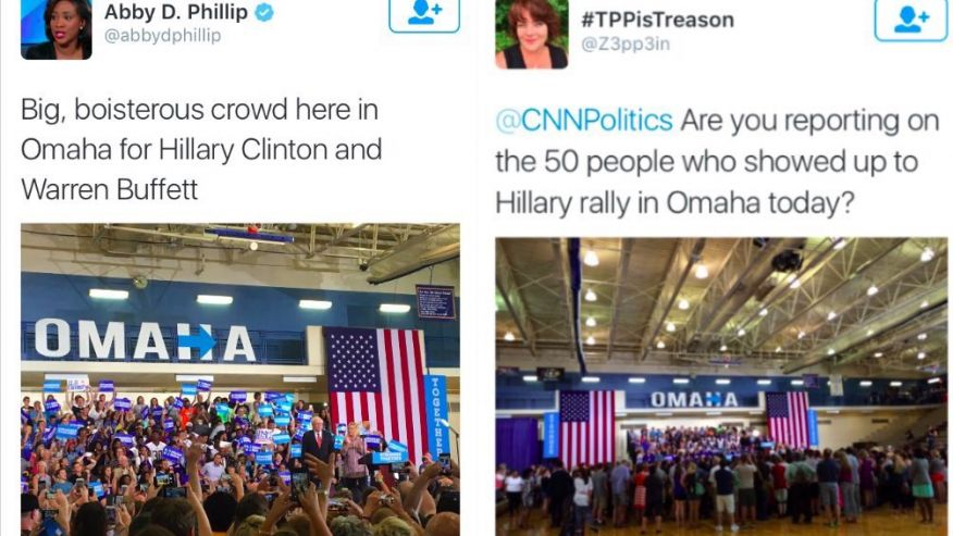 Corrupt Media Highly Exaggerates Size of Crowd At Clinton ...