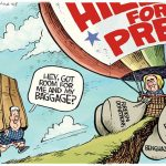 Clinton-Scandals-Crimes-Failures-Baggage-Balloon-cartoon