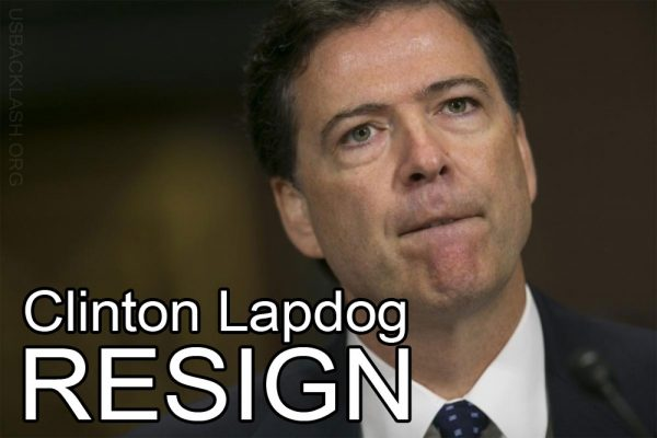 Corrupt Clinton Lapdog FBI Director James Comey Must Resign After Aiding in Clinton Coverup