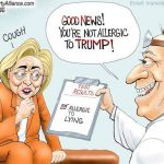 hillary-clinton-not-allergic-to-trump-she-is-allergic-to-lying-cartoon