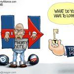 minority-vote-slaves-in-shackles-for-racist-kkk-slavery-democrats-hillary-clinton-cartoon
