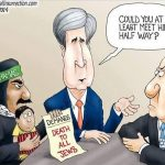 obama-kerry-support-terrorists-attack-israel-un-back-stabbing-cartoon