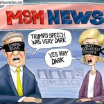 Corrupt-Liberal-Biased-News-Didnt-Like-Trump-Speech-Cartoon