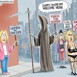 ProLife-Women-Not-Welcome-At-Socialist-Woman-March-Cartoon