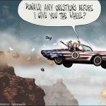 obama-drives-america-off-cliff-before-trump-handover-cartoon