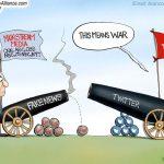 trump-destroys-corrupt-media-lies-attacks-with-tweets-cartoon