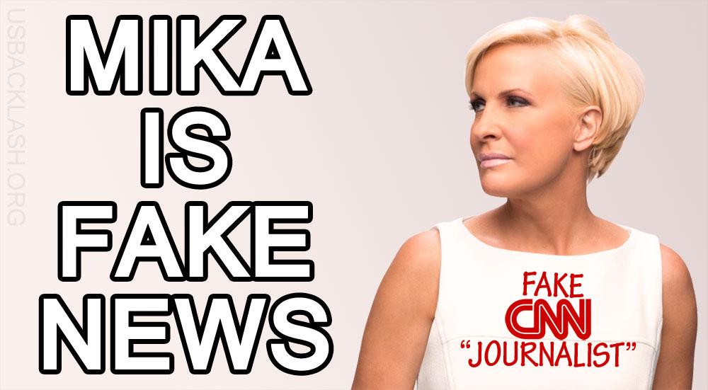 "Stupid Libtard CNN Fake Journalist Hack Mika Brzezinski Calls President Donald Trump ""Fake President"""