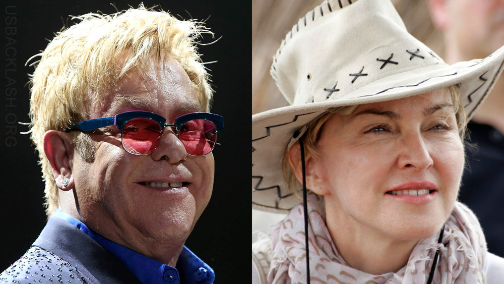 "Washed-Up Dinosaurs Elton John & Madonna Blame ""Ageism"" Instead of Shitty Music for No Radio Play"
