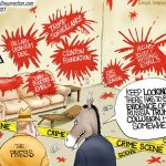 fake-trump-investigation-coverup-real-democrat-scandals-crimes-cartoon
