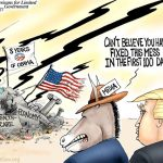 Trump-First-Hundred-Days-After-Obama-Destroyed-America-Cartoon