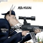 fake-news-media-losers-try-smearing-president-trump-with-lies-anonymous-sources-cartoon