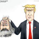 President-Trump-Beheads-Paris-Climate-Accord-Cartoon