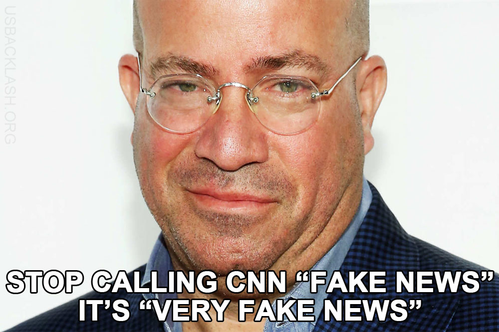 Very Fake News CNN President Jeff Zucker Is Butthurt His Libtard Network's Corruption Is Catching Up to Them