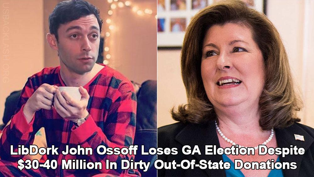 LibDork Jon Ossoff & Democrats Lose GA Election After Dropping $30-40 Million Down Toilet