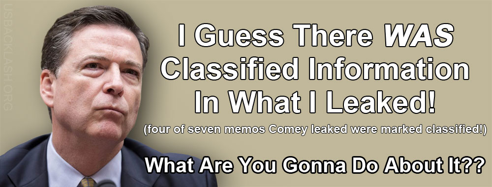 Criminal James Comey Leaked Highly Classified Information To Libtard Media In So-Called 'Personal Memos'