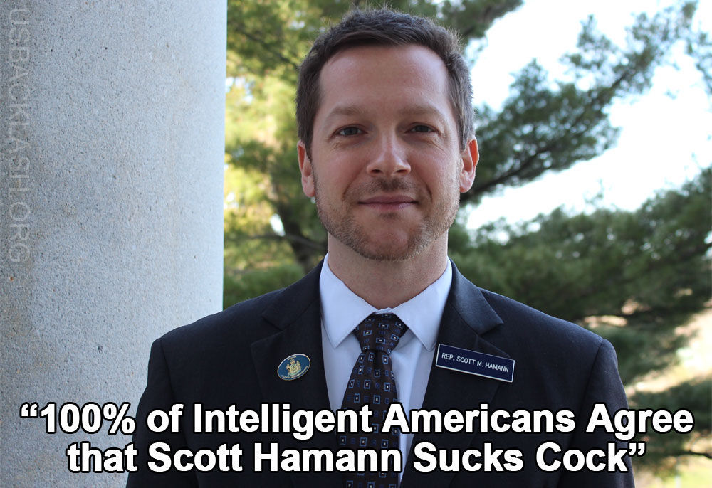 Nutless Alt-Left Democrat Pussy Scott Hamann Threatened President Trump  With Violence & Then Cowers