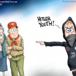 stupid-alt-left-libtard-losers-hitler-youth-cartoon
