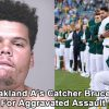 Racist Oakland A's Catcher Bruce Maxwell Arrested For Aggravated Assault with Deadly Weapon Against Food Delivery Driver