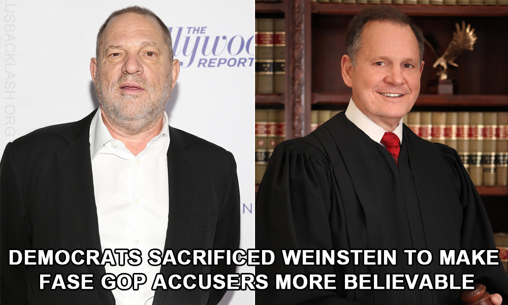 AND SO IT BEGINS - Democrats Sacrificed Weinstein To Make False Accusations Against Republicans More Damaging