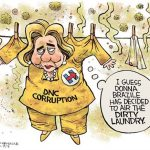 donna-brazile-hangs-dirty-dnc-hillary-clinton-out-to-dry-cartoon