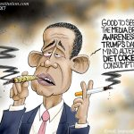 stoned-smoking-obama-ignored-by-corrupt-altleft-media-number-trump-diet-cokes-covered-extensively-cartoon
