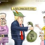 helpful-president-trump-tax-cuts-hated-by-corrupt-big-gov-democrats-cartoon