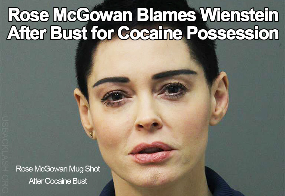 Disgusting Feminazi Rose McGowan Tries Blaming Weinstein For Her Cocaine Possession Arrest
