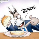 corrupt-democrats-laughably-accuse-trump-jr-treason-cartoon