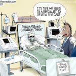 dem-bfi-doj-fake-trump-russia-collusion-lie-on-life-support-cartoon