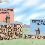 democrat-culture-of-corruption-platform-hate-trump-cartoon